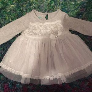 Baby girls glittery tulle shirt NWOT